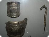Фрагменты серебренного сосуда с надписью на арабском языке VII - VIII вв.