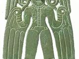 Бляха. Крылатая богиня VII – VIII вв. Бронза. 17 х 12 см п. Курган Чердынского р-на Пермской обл.